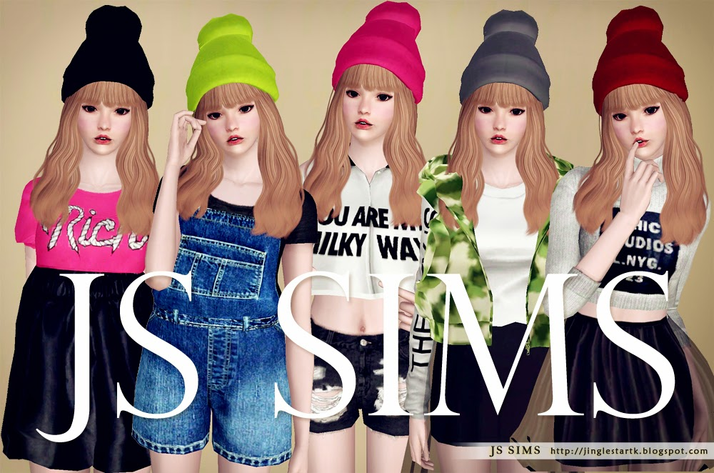 Colorful Beanies by JS SIMS 3