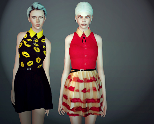 Spring Queen Dresses by MF Sims