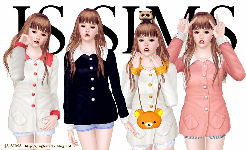Petter Pan Collar Top by JS Sims 3