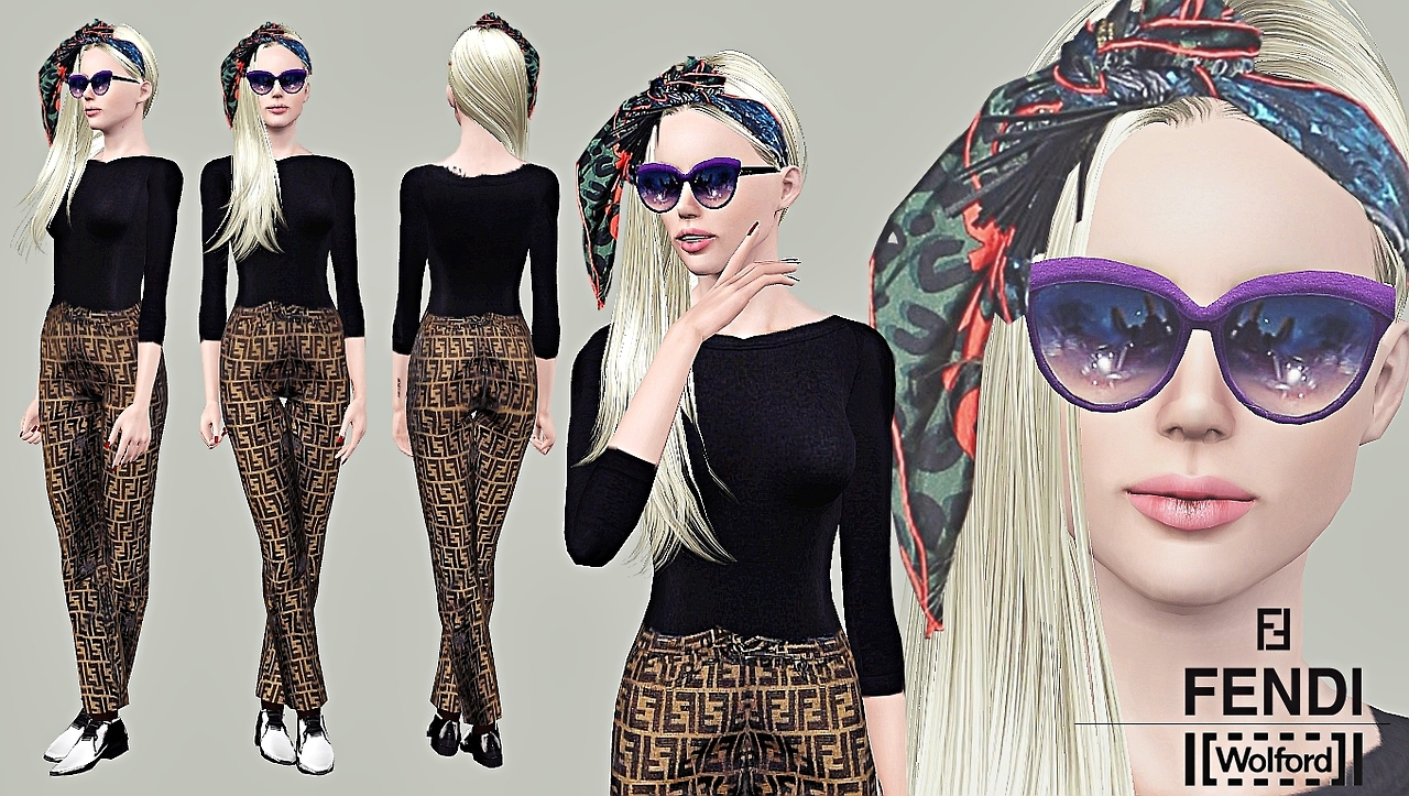NYC Casual Outfit and Velvet Glasses by Artsims