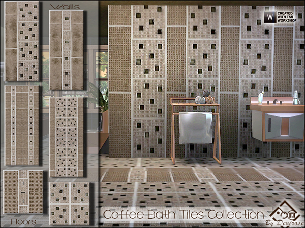 Coffee Bath Tiles Collection by Devirose