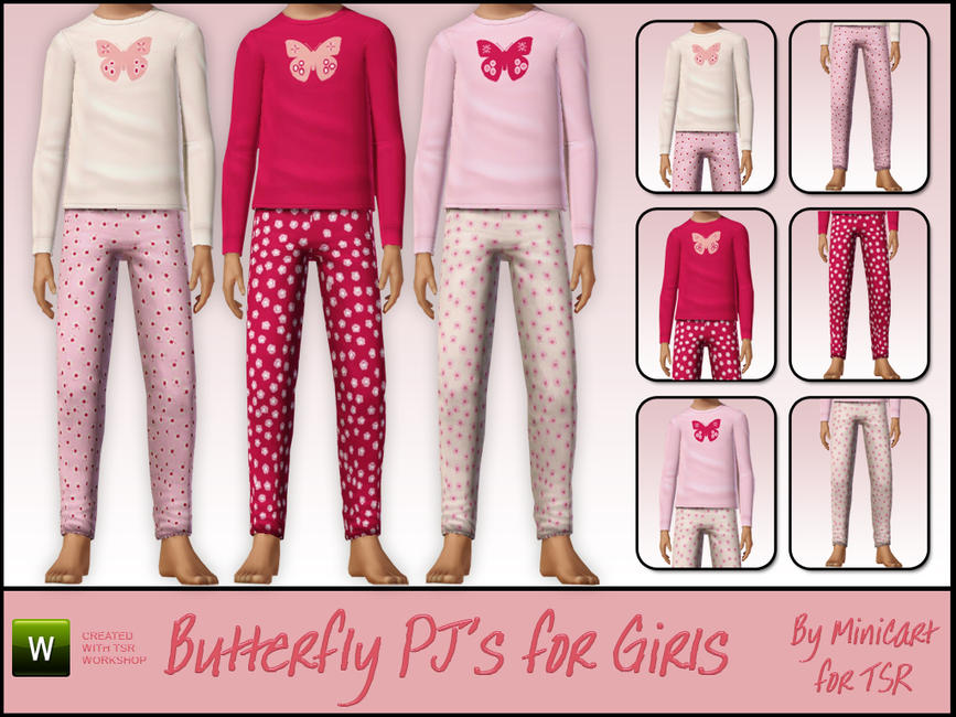 Butterfly Pyjamas for Girls by minicart