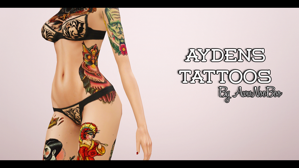 Aydens Tattoos by Awwnooboo