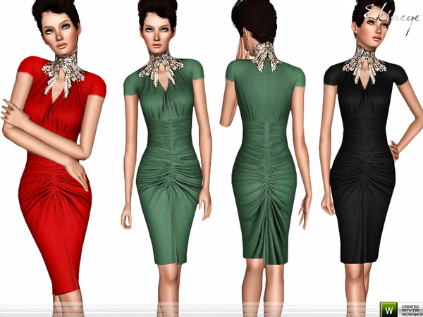 Dress With Embellished Neck by ekinege