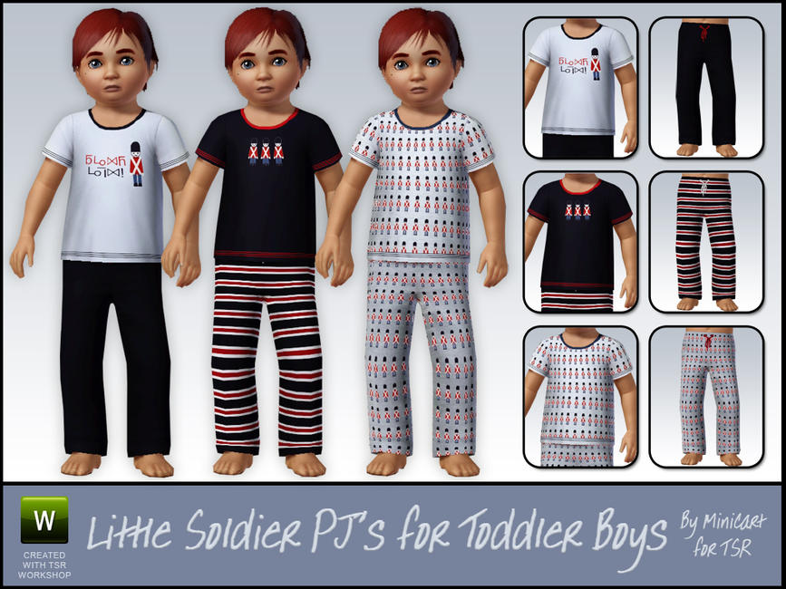 Little Soldier Pyjamas for Toddler Boys by minicart