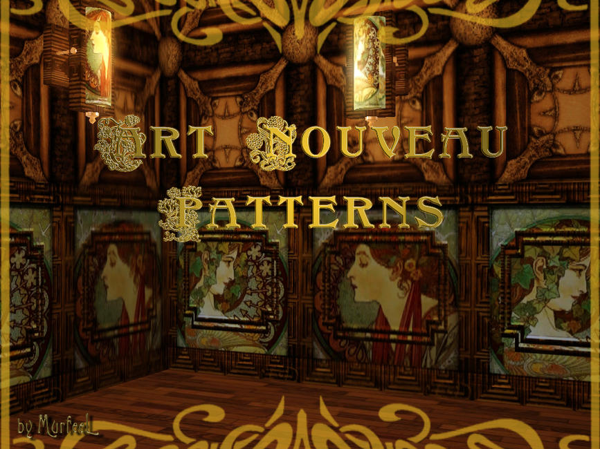 Art Nouveau Pattern Set by murfeel