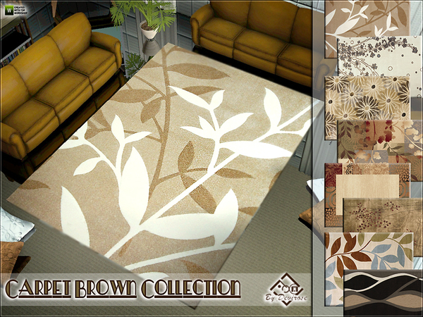 Carpet Brown Collection by Devirose