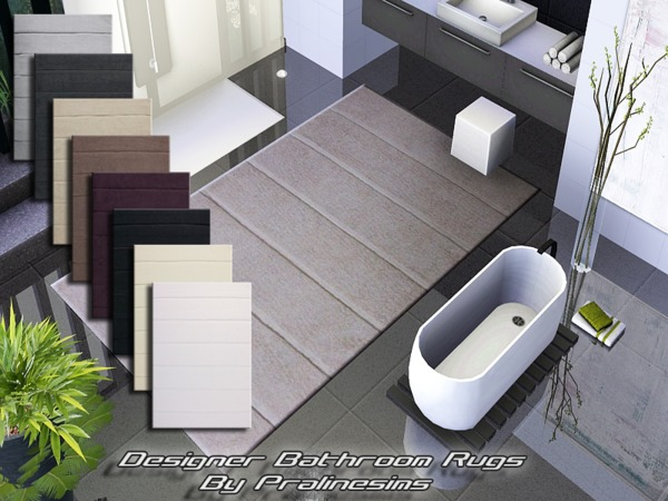 Designer Bathroom Rugs by Pralinesims