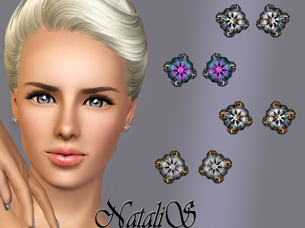 Classic single crystal earrings FT-FE by NataliS