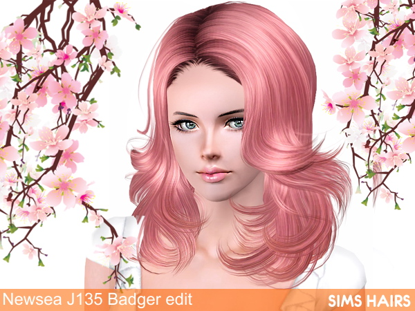 J135 Badger from Newsea retextured by Sims Hairs