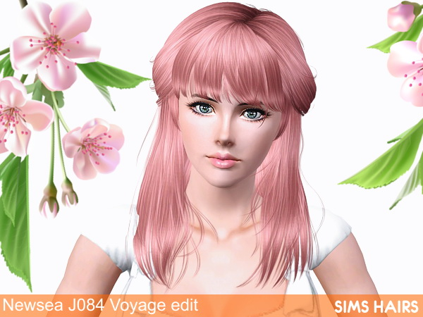 Newseas J084 Voyage AF hairstyle retextured by Sims Hairs