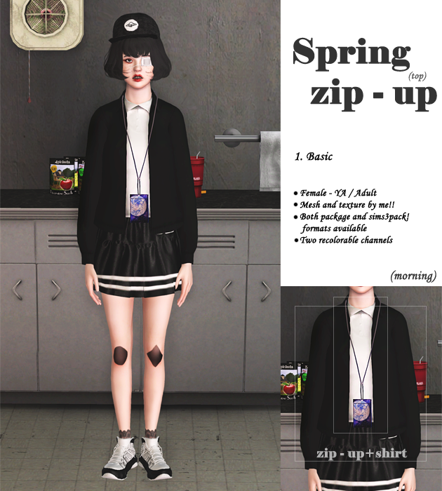Spring zip-up by Morning