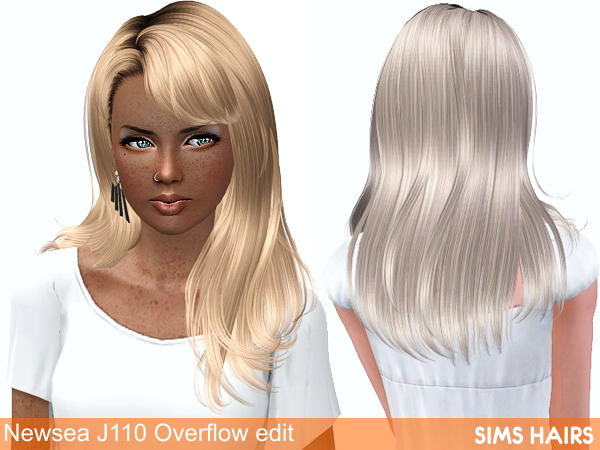 Newsea Overflow J110 hair retexture by Sims Hairs