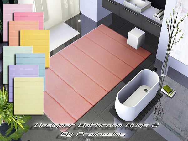 Designer Bathroom Rugs 2 by Pralinesims