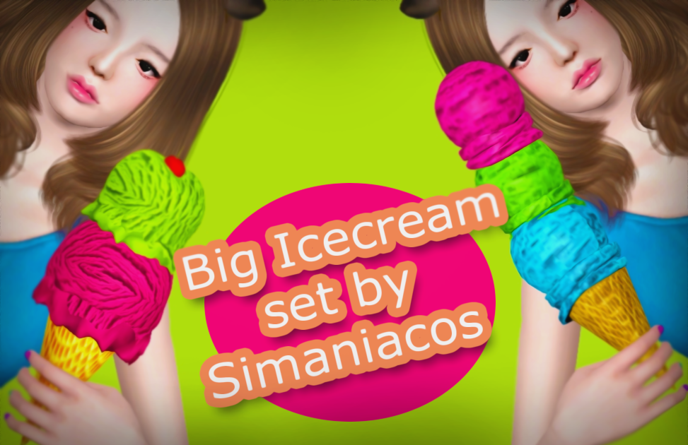 BIG ICE CREAM AND POSEPACK by simaniacos
