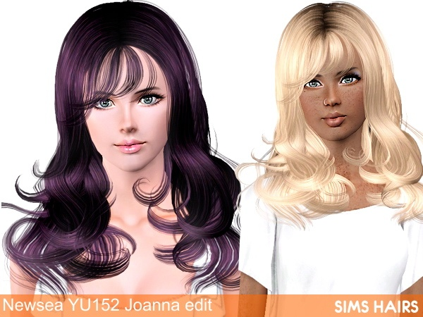 Joanna YU 152 hairstyle from Newsea retextured by Sims Hairs