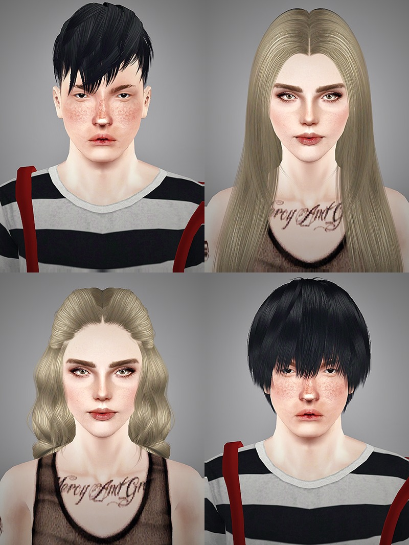 4 Requested Hair Retextures by Swtsugar