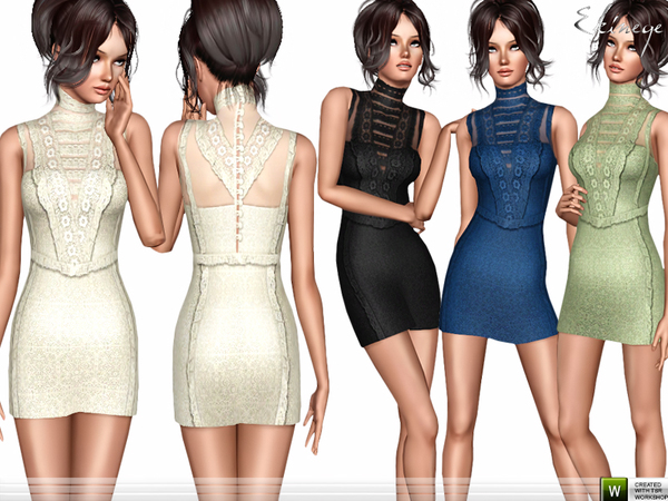 Lace Trim Dress by ekinege