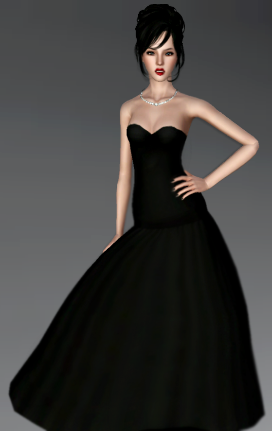 Black gown by Bill Sims