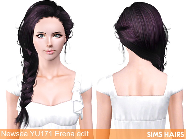 Newseas YU171 Erena hairstyle AF retextured by Sims Hairs