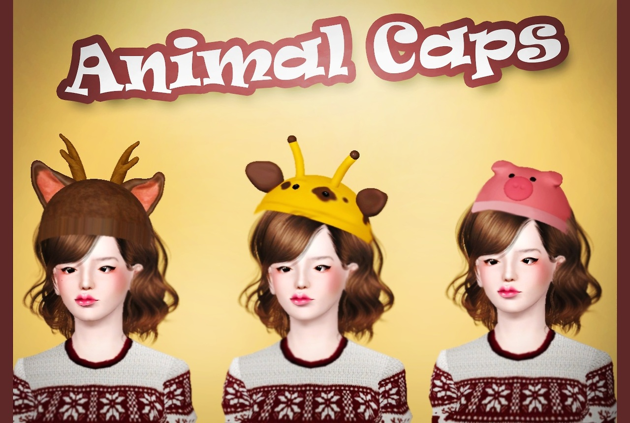 Animal Caps by simaniacos