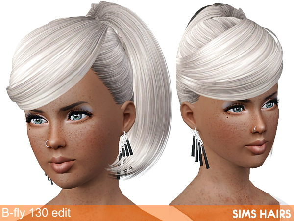 B-fly Sims 130 AF hairstyle retexture by Sims Hairs
