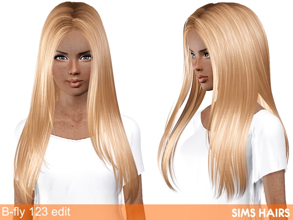 B-fly Sims 123 AF hairstyle retexture by Sims Hairs