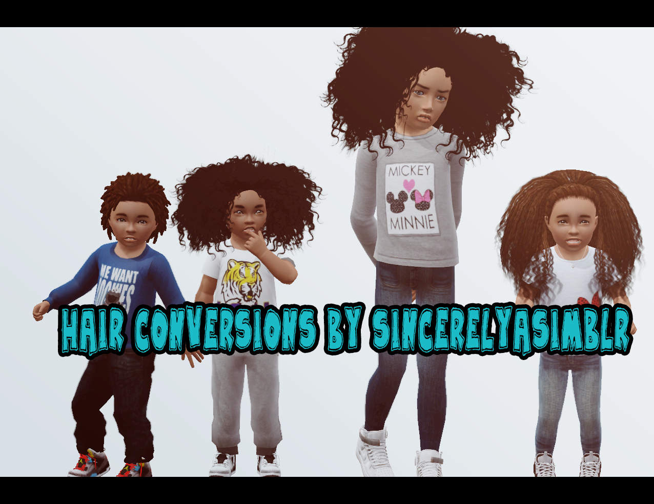 Age Conversion Hairs for Kids by Sincerelyasimblr