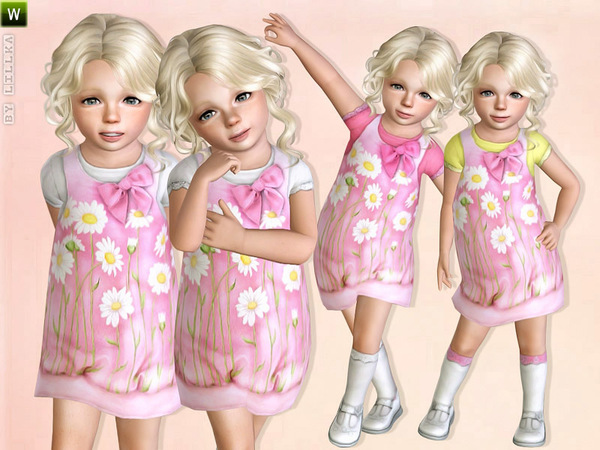 Light Pink Daisy Dress by lillka
