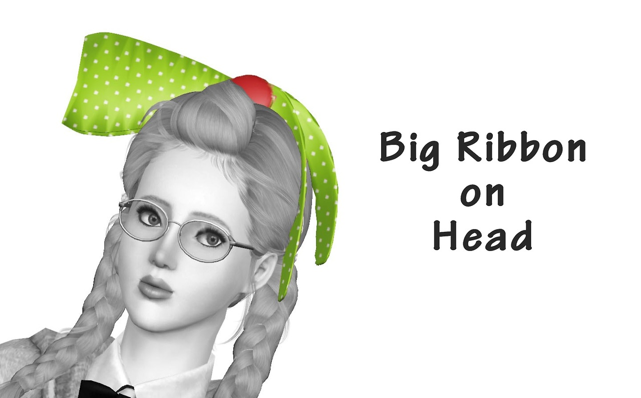 Big Ribbon on Head Accessory by Happylifesims