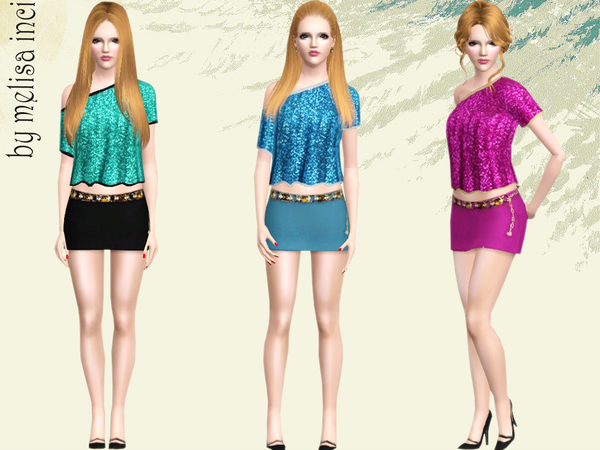 Skirt Top Set by melisa inci