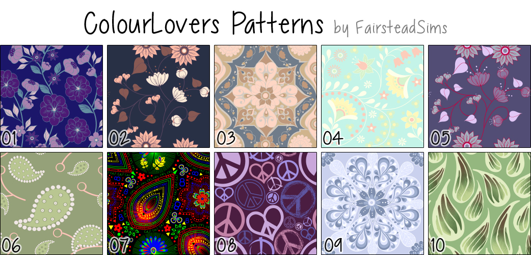 Colour Lovers Fabric Patterns by Fairsteadsims