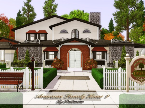 American Family Home 9 by Pralinesims