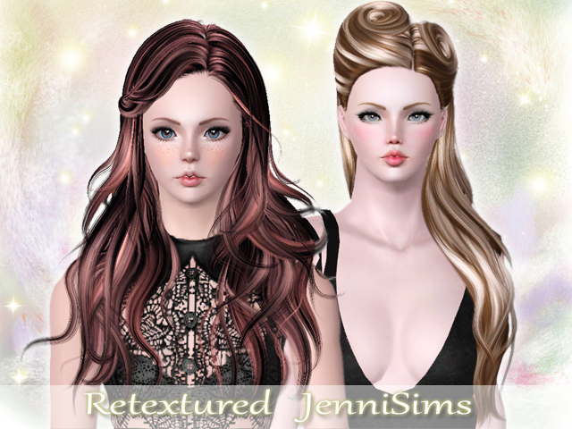 2 hairstyle retextures by Jenni