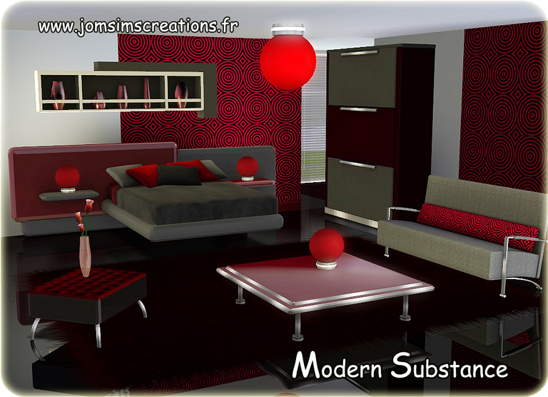 A modern bedroom by Jomsims