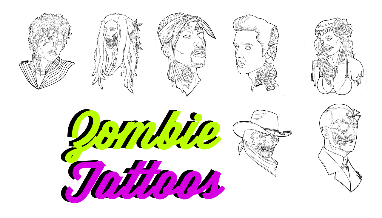 Zombie Tattoos by Fatalsims