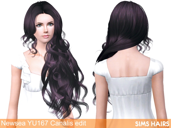 Newsea YU 167 Canalis hairstyle retexture by Sims Hairs