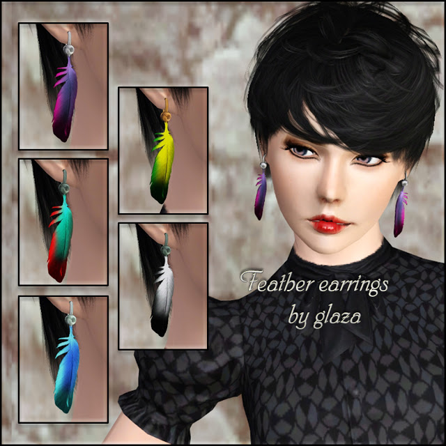 feather earrings by glaza