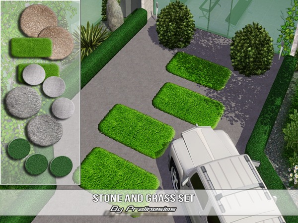 Stone and Grass Set by Pralinesims
