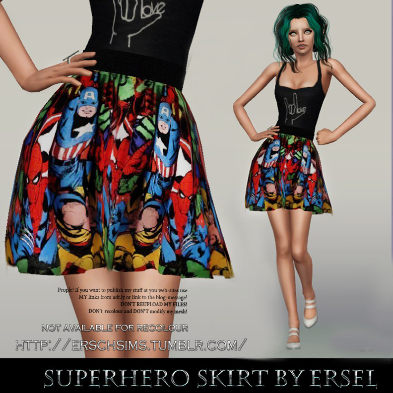 Superhero Skirt by Ersel