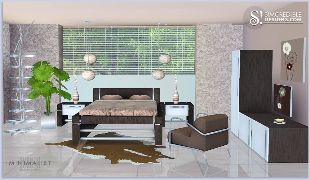 Minimalist Bedroom Set by SIMcredible Designs