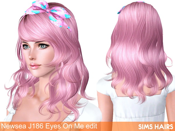 Newseas J186 Eyes On Me retextured by Sims Hairs