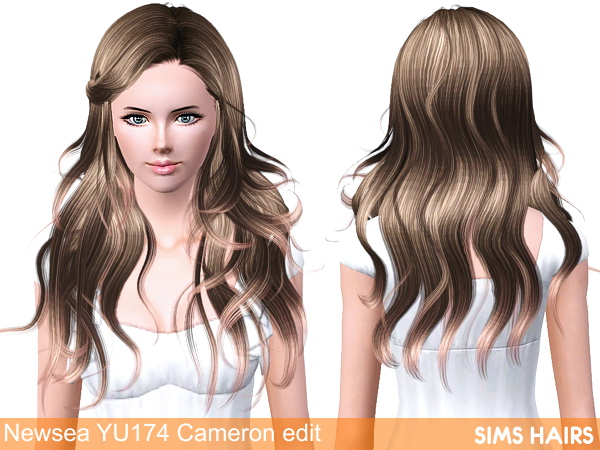 Newsea's YU174 Cameron hairstyle retexture by Sims Hairs