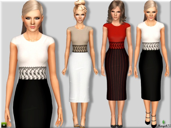 Long Lace Formal by Margeh-75