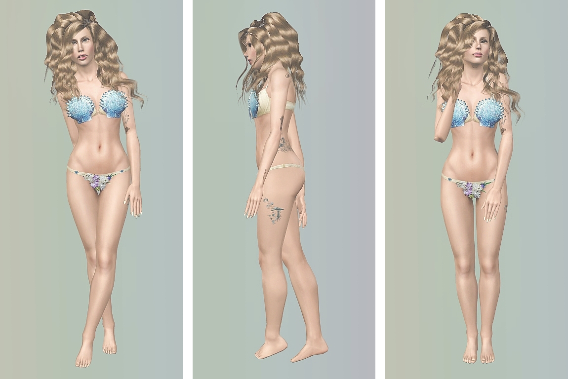 Rodrigo Otazu Seashell Bikini by Artsims