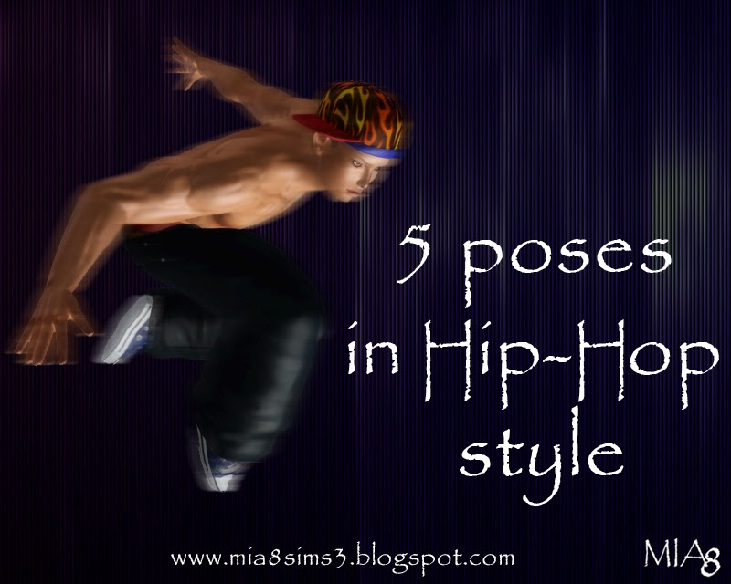 5 Poses in Hip-Hop style by Mia8