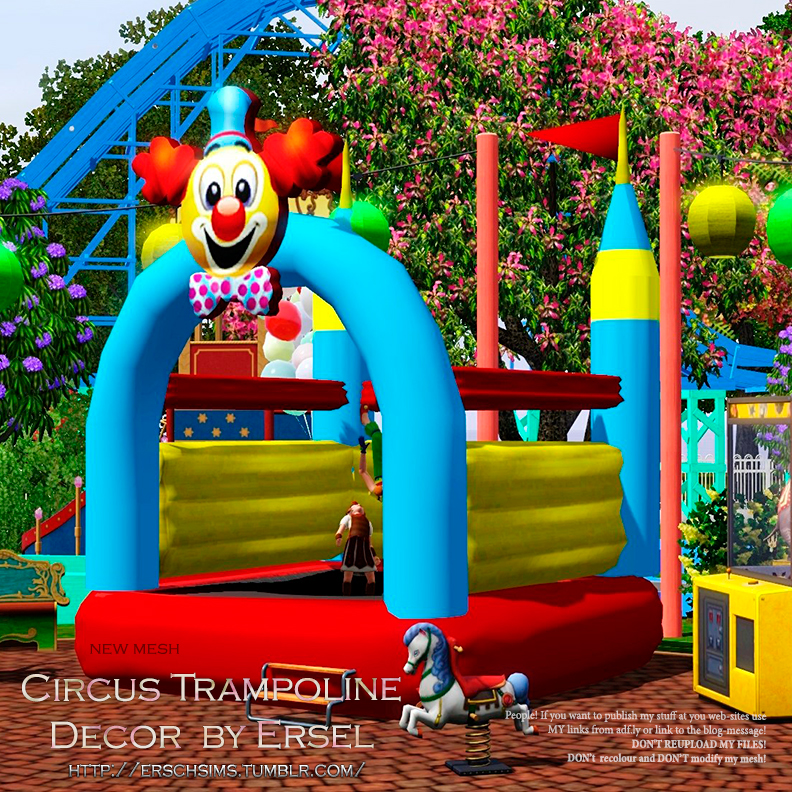 Circus Trampoline Decor by Ersel