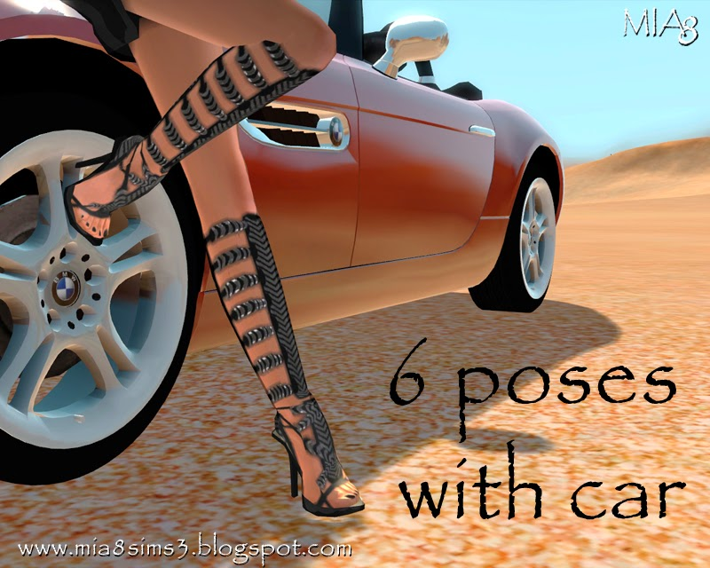 6 Poses with car by Mia8