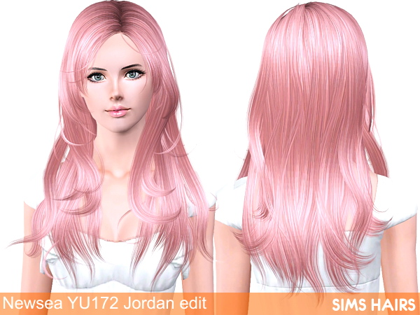 Newsea's YU172 Jordan hairstyle retexture by Sims Hairs