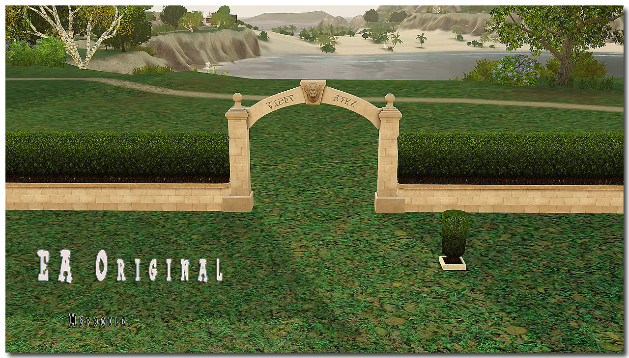 Fully CAStable Wonder Wall with Hedge, Gate and Shrub Sculpture by Mspoodle1